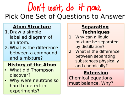 AQA C1 Atomic Structure Summary and Revision