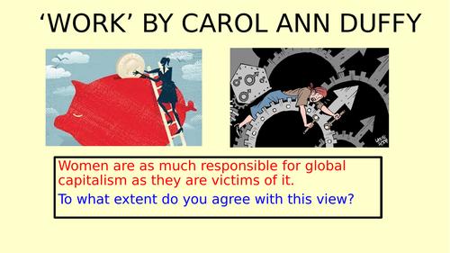 Work Carol Ann Duffy Feminine Gospels