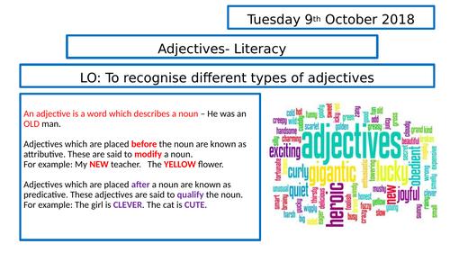 Grammar  - Adjectives