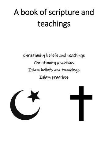 Scripture and teachings revision book for Christianity and Islam (AQA Religious Studies A 9-1)