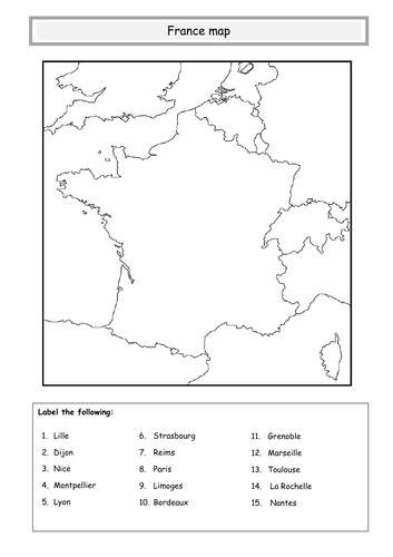 France Map Teaching Resources