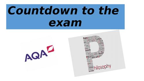 AQA Philosophy paper 1 (yr1)  exam advice