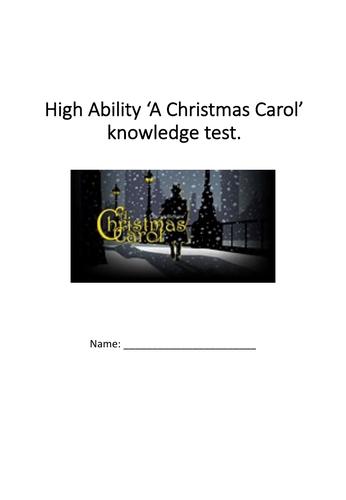 High ability 'A Christmas Carol' test