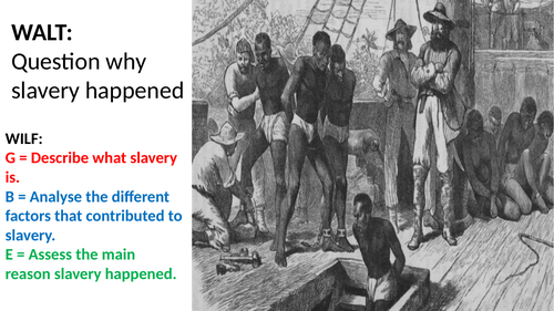Causes of Slavery and the Transatlantic Slave Trade