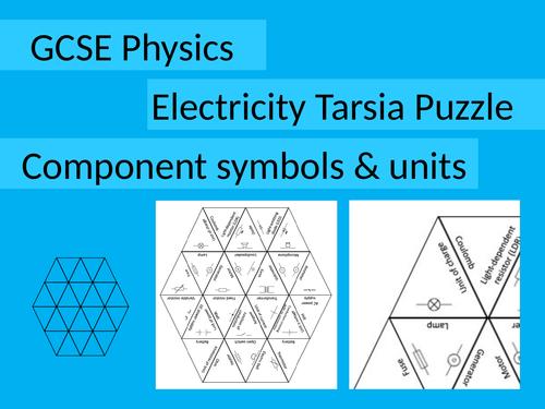 Electricity Tarsia: Electrical symbols