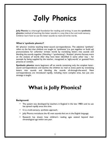 How to TEACH Jolly Phonics (18 pages)