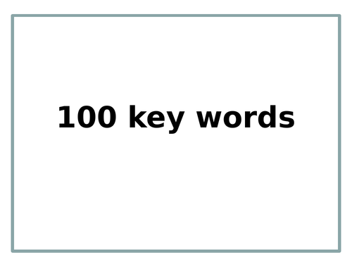 Key Words (100 slides)