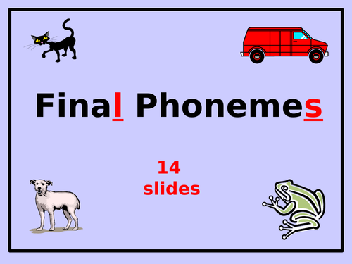 Phonics: Final Sounds/Phonemes