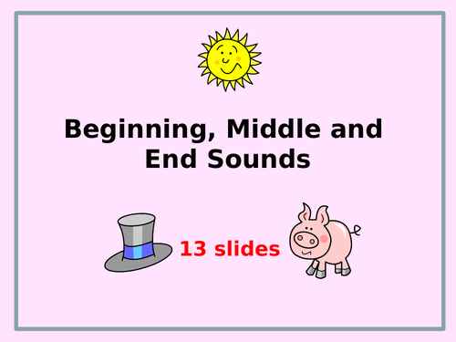 Phonics: Beginning, Middle and End Sounds ... what sound can you hear?