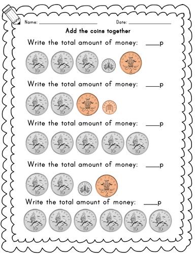 Year 1 adding coins