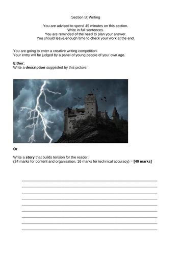 English Language Paper 1 question 5