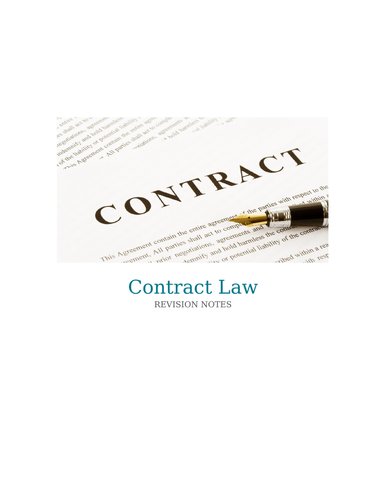 Basic contract law revision