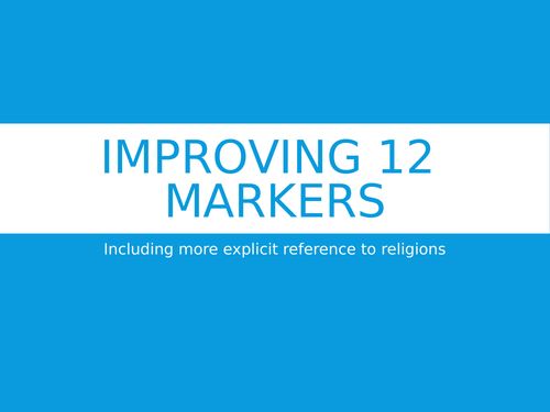 12 mark question help: including more religion RS GCSE