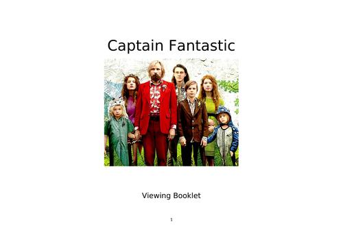 A Level Film Studies Viewing Booklet for 'Captain Fantastic'