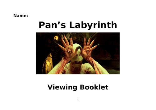 Viewing booklet for A-Level film students studying 'Pan's Labyrinth'