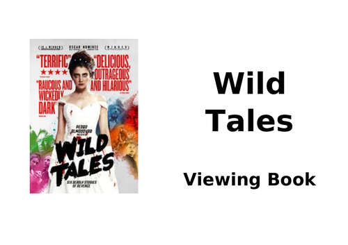 Viewing Booklet for 'Little Bomb' and 'Crime of Passion' from 'Wild Tales'