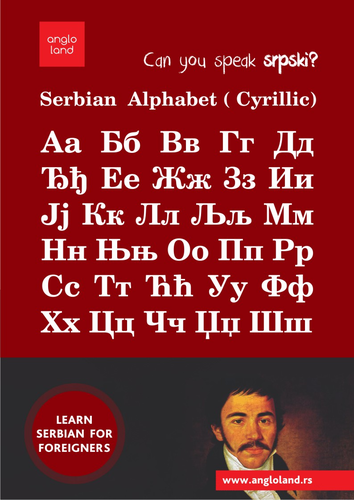 angloland Learn SERBIAN CYRILLIC poster
