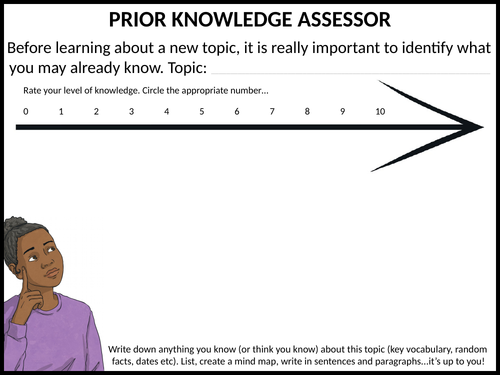 Prior knowledge assessor