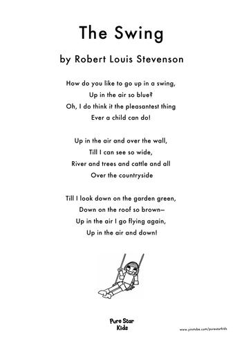 Poetry - The Swing by Robert Louis Stevenson