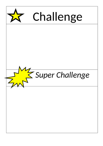 Challenge Template Cards