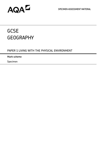 GCSE - AQA Geography Practise Papers (SET A)