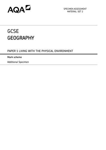 GCSE - AQA Geography Practise Papers (SET B)