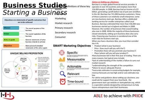Business Studies / BTEC Enterprise Knowledge Organiser