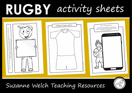 Rugby Activity Sheets