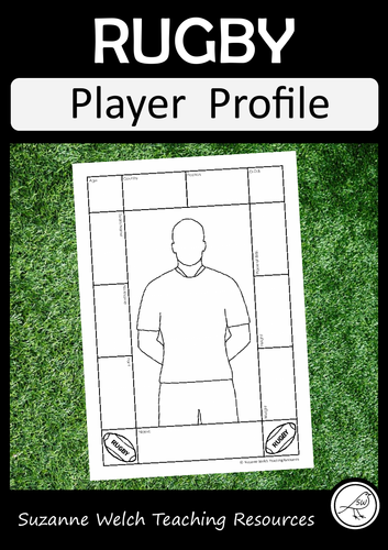 Rugby Player Profile Activity Sheet