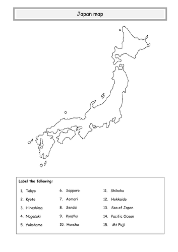 Japan Map Teaching Resources