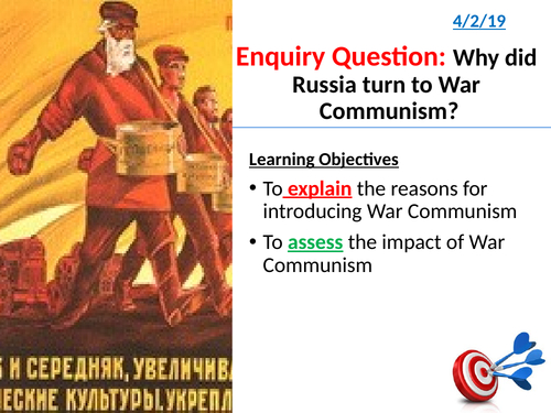 13. Why did Russia turn to War Communism?