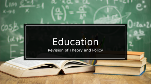 A Level Role of Education and Educational Policy Revision