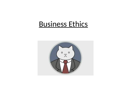 Discussing Business Ethics