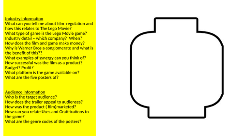 GCSE OCR LEGO questions to use a starter