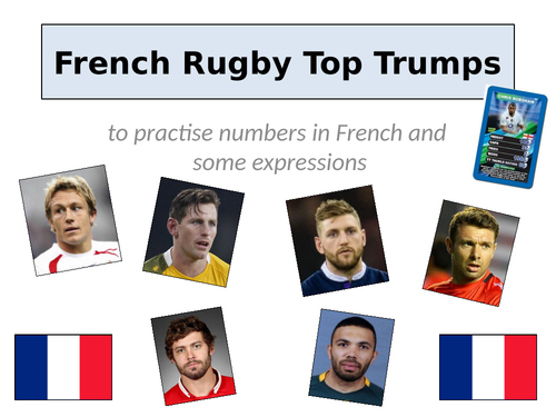 French Top Trumps numbers / rugby