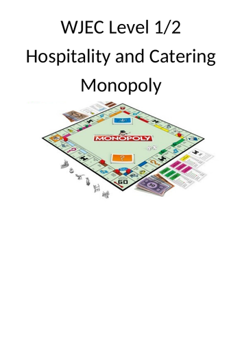 WJEC Level 1/2 Hospitality and Catering Revision Game, highly engaging for all abilities.