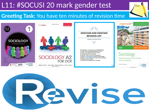 OCR A level Sociology #SOCUSI Lesson 11  (Understanding Social Inequality) 20 mark test