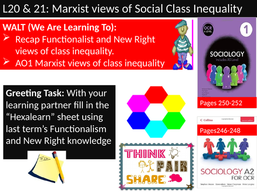 OCR A level Sociology #SOCUSI Lesson 20 and 21 (Understanding Social Inequality) Marxism