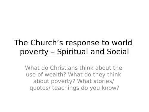 Churches Response to World Povert AQA GCSE