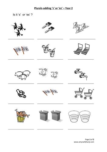 Year 2 - Plural bundle for KS1 SATS