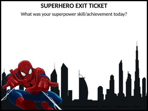 Superhero exit ticket