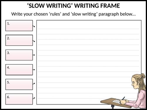'Slow writing' writing frame