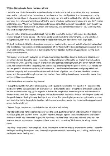 Grade 9 English Language Q5 Story