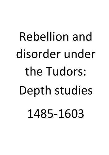 Tudor Rebellions Revision Workbook