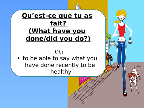 KS4 French: Healthy Living/Perfect tense