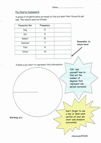 TMA - Pie Chart Homework 1 and ANSWERS