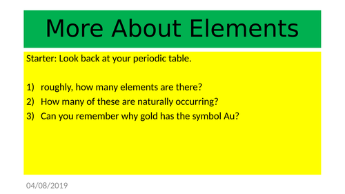 6.2.1 - More about elements