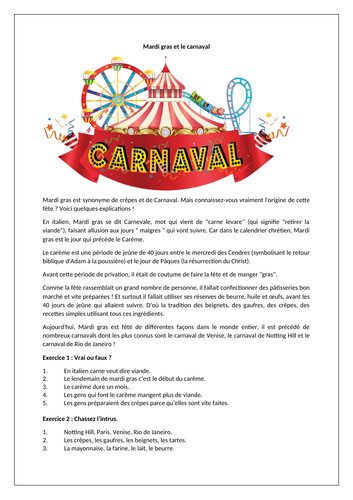 Mardi Gras / Le Carnaval / Carnival / Festivals and celebrations in France