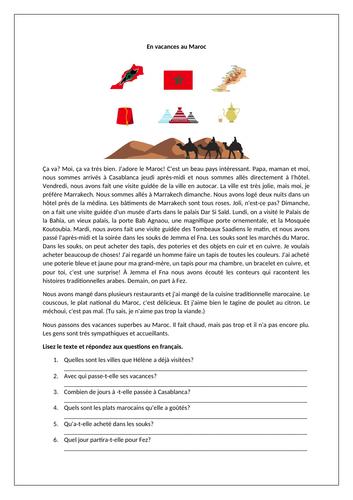En vacances / Le Maroc / La francophonie / Holidays / Morocco / French-speaking countries