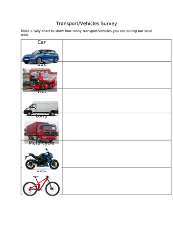 Transport Survey - EYFS